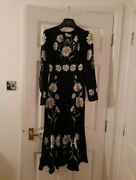 Dolce And Gabbana Silk Jersey Classic Daisy Print Midi Fit And Flare Dress Xs Andpound2k