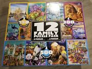 12 Family Puzzle Pack Animal Landscapes And Ocean 150 300 And 500 Piece Puzzles