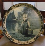 Pre-prohibition Daeufer Beer - Brewing Co Metal Tin Litho 12 Tray Allentown Pa