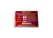 Brabus Style Engine Achtung Edition Emblem Badge Logo All Mercedes Vehicles 1pc