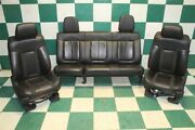 10and039 Raptor Svt Ext Cab Black Leather Power Heated Buckets Memory Backseat Oem