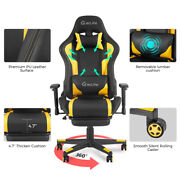 Computer Gaming Chair Massage With Pedal Office Furniture Relax Yellow Black Hot