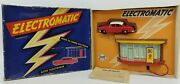 1950and039s Jouef France And039electromaticand039 Power Filling Station And Sedan Set In Box