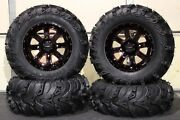 Can Am Renegade 800 27 Mud Lite Ii 14 St-4 Red Blk Atv Tire And Wheel Kit Can1ca