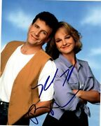 Paul Reiser And Helen Hunt Autographed 8x10 Mad About You Paul And Jamie Photograph