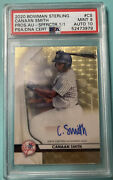 2020 Bowman Sterling Canaan Smith Superfractor Auto 1/1 Psa 9 Gem Mint