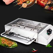 Smokeless Electric Griddle Bbq Grill Indoor Barbecue Cooking Table Top 2800w Usa