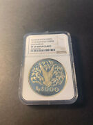 Indonesia 1974 Conservation Series 5000 Rupiah Silver Proof Ngc Pf67ucam