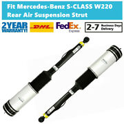Pair Rear Air Suspension Strut W/ads Fit For Mercedes Benz S320 350 500 W220 S65