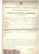1659 Italy Certificate Of Industrial Property 1918 Stamp Office Bond Law 30
