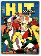 Hit Comics 6 1940 Pre-code Horror Story-red Bee-lou Fine-golden Age Comic Book