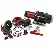 Quadboss 2500 Lb Winch With 39 Ft. Dyneema Rope Rp25ws
