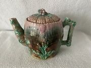 Majolica Etruscan Shell And Seaweed Teapot