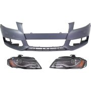 Hid Headlights Lamps Set Of 3 Front Hid/xenon Left-and-right For Audi A4 Quattro