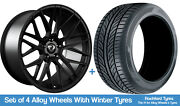 Cades Winter Alloy Wheels And Snow Tyres 20 For Jeep Compass [mk1] 06-16