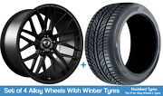 Cades Winter Alloy Wheels And Snow Tyres 20 For Ford Explorer [mk6] 20-20