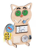 Busy Board Toddler Montessori Toys Educational Toy Activity Board Cat New
