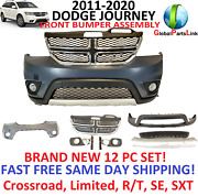 2011 - 2019 Dodge Journey Front Bumper Cover Assembly Complete With Grill Fogs