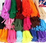 10-1000 Chenille Craft Stems Pipe Cleaners 30cm Long 6mm Widelots Of Colours