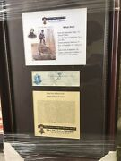 Framed Vermont Civil War Hero William Wells ...signed Check Won Medal Of Honor