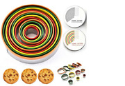 12 Piece Round Cookie Biscuit Cutter Set Pastry Cutters Stainless Steel Baking