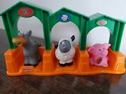 Fisher Price Little People Animal Stable Barn Farm Horse Playset