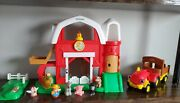 Fisher Price Little People Farm Barn Silo With Animals Playset Sound Tractor +