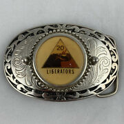 Us Army 20th Armored Division Liberators Western Style Belt Buckle