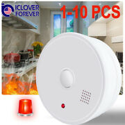 Smoke Sensor Detector Fire Alarm Battery Operated Home Fire Safety Alert Warning