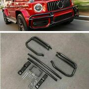 Front Bumper Body Grille Guard For Mercedes Benz G Class W464 G63 2018+ Black