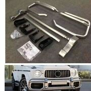 Front Bumper Body Grille Guard For Mercedes Benz G Class W464 G63 2018+ Silver