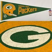 1960s Vintage Green Bay Packers Wisconsin Nfl Football Pennant 12x29.5