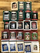 Hallmark Ornaments Nostalgic Houses And Shops Series Set 1984 To 2006 Lot Of 24
