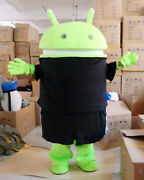 Android Robot Mascot Costume Hot Cute Custom Logo Adult Size Dress Fancy Cosplay