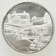 20 Christmas Wishes 1 Ozt Fine Silver Ounce .999 Holiday Round Coin Roll