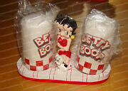 Classic Betty Boop, Pudgy Diner Salt And Pepper Shakers W/holder Pacific, 37702