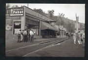 Real Photo Osage West Virginia Stores Pabst Beer Advertising Ostcard Copy