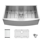 33 Inch Kitchen Farmhouse Sink Apron Front Stainless Steel 18 Gauge Single Bowl