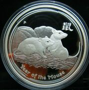 2008 Australia, Lunar Year Of The Mouse, 1oz Silver Proof Coin - Pictured Coin