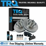 Trq Front Disc Brake Pad And Rotor Kit W/chemicals For 94-99 Ram Truck 2wd