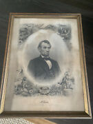 Abraham Lincoln Engraving By J.c. Buttre Brady Photograph