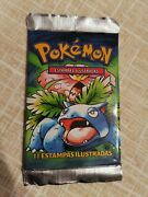 Pokemon Base Set Booster Pack First Edition 1st Edition - Portuguese -sealed-