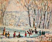 Francis F. Brown 1891-1971, Brown County Indiana, Hoosier Salon, Ice Skating