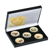 Lot Of 5 Pcs Gold Coin Star Wars Heroes Coins Collectable Coin For Nice Gift