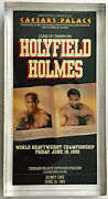 1992 Souvenir Boxing Fight Ticket Encased Acrylic Evander Holyfield Larry Holmes