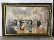 Victor Gilbert The Ball Oil Painting 34andrdquox24andrdquo Signed