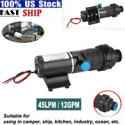 Rv Discharge Mount Macerator 12v Waste Water Pump 45lpm/12gpm For Rv Marine Boat