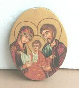 Old Vintage Christianity Painting On Teak Wood Religious Art Collectibles Bo-63
