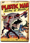 Plastic Man 1-1943-first Issue-tojo-jack Cole-skull Cover