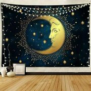 Starry Night Tapestry Crescent Moon For Bedroom Very Large Big Huge Wall Hanging